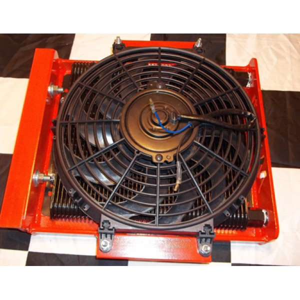 HD Cage Mounted Fan Cooled Transmission Cooler (Trans Coolers) by www.mopderbyproducts.com